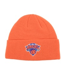 Adidas New York Knicks Cuff Knit Hat Orange Black