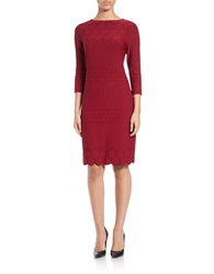 Julia Jordan Stretch Sheath Dress Marsala