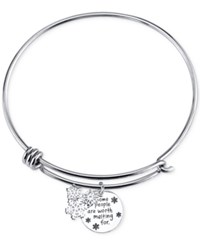 Disney Worth Melting For Charm Bangle Bracelet In Sterling Silver