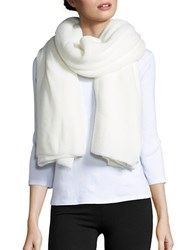 Collection 18 Ribbed Knit Wrap White