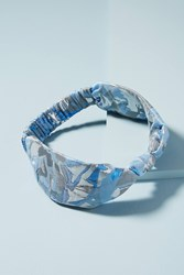 Anthropologie Wide Knot Headband Blue