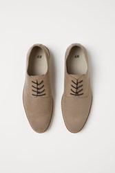 Handm H M Perforated Pattern Derby Shoes Beige