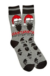 Bottoms Out Holiday Socks Gray