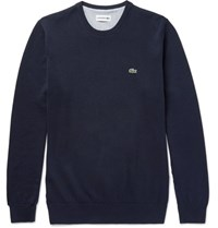 Lacoste Slim Fit Knitted Cotton Sweater Navy