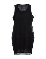 Blk Dnm Short Dresses Black
