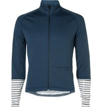 Cafe Du Cycliste Arlette Knitted Cycling Jersey Navy
