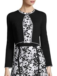 Carolina Herrera Knit Open Front Jacket Black