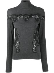 Dolce And Gabbana Knitted Sweatshirt Grey