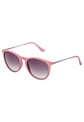 Kiomi Sunglasses Rubberized Red Silvers Smoke