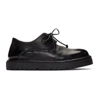 Marsell Black Gomme Pallottola Derby Oxfords