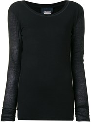 Kristensen Du Nord Scoop Neck Sweater Black