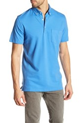 Tailorbyrd Button Down Collar Classic Trim Fit Polo Blue