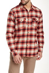 Micros Rainier Long Sleeve Plaid Shirt Red