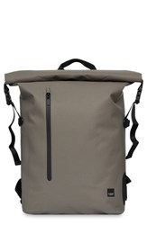 Knomo London Thames Cromwell Roll Top Backpack Green Khaki