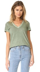 Rag And Bone Jean Sublime Wash V Neck Tee Vintage Army