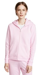 Tory Sport French Terry Zip Hoodie Cotton Pink
