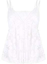 Goen.J Embroidered Camisole Top White