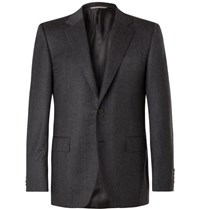Canali Charcoal Super 120S Virgin Wool Suit Jacket Charcoal