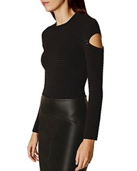 Karen Millen Slash Sleeve Sweater Black