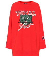 Undercover Printed Cotton Sweatshirt Red