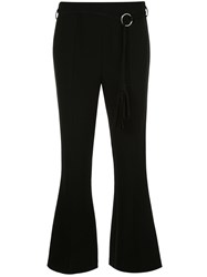 Cinq A Sept Avril Flared Trousers Black