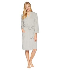 N By Natori French Terry Nvious Robe Heather Grey Gray