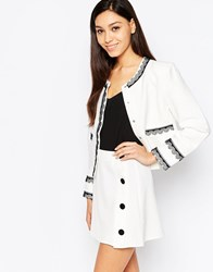 Sister Jane Grace Jacket With Lace Trim White