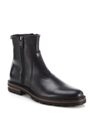 Aquatalia By Marvin K Jared Leather Ankle Boots Black