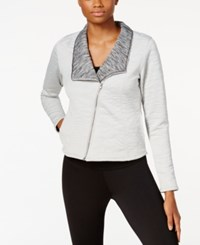 Soybu Jet Asymmetrical Zip Moto Jacket Sea Salt