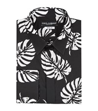 Dolce And Gabbana Palm Leaf Shirt Male Black