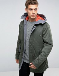United Colors Of Benetton Parka With Quilted Lining Khaki 1D1 Green