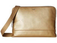 Knomo Mayfair Luxe Molton Single Zip Crossbody Gold Cross Body Handbags