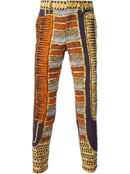 Stella Jean Printed Cropped Trousers Multicolour