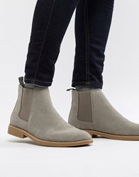 New Look Faux Suede Chelsea Boots In Light Grey Light Grey