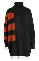 Volcom Cold Stripe Turtleneck Sweater Dress