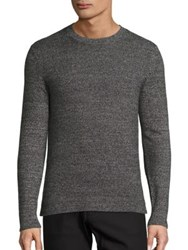 Theory Donners Cashmere Sweater Rich Camel Eclipse Black Multicolor Heather Grey