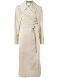 Christophe Lemaire Trench Dress Women Cotton Spandex Elastane 34 Brown