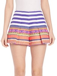 Alexis Karly Aztec Printed Shorts Aztec Neon