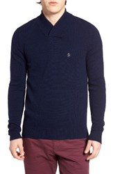 Original Penguin Men's Lambswool Blend Shawl Collar Sweater