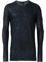 Avant Toi Fine Knit Sweater Blue