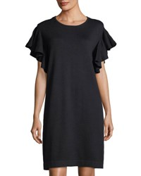 Cynthia Steffe Ruffle Sleeve Sweater Dress Black