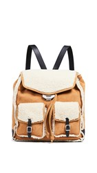 Rag And Bone Field Backpack Timber Shearling