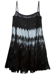 Alaia Sheer Fringed Blouse Black