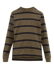 Raey Long Sleeved Striped Cotton Jersey T Shirt Black Stripe