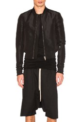 Rick Owens Glitter Flight Bomber Jacket In Black