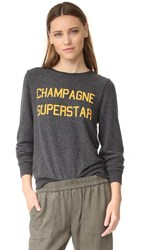 Wildfox Couture Champagne Superstar Sweatshirt Clean Black