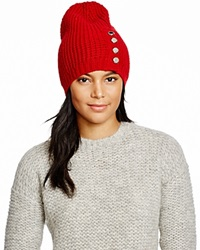Michael Kors Waffle Stitch Slouchy Hat 100 Bloomingdale's Exclusive Red Blaze