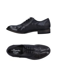 Alexander Hotto Lace Up Shoes Steel Grey
