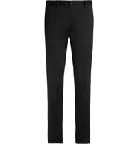Paul Smith Slim Fit Cotton Blend Trousers Black