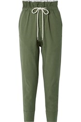 Bassike Dobby Cotton Blend Pants Army Green